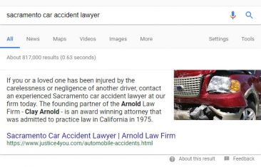 Car Accident Lawyer Search Terms Stop Producing Local Packs, Can Get Featured Snippets