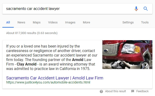 Car Accident Lawyer Search Terms Stop Producing Local Packs, Can Get