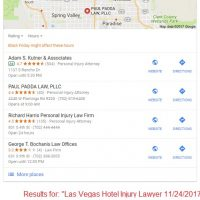 Google Local Results aka Map Packs Change November 2017 for Personal Injury Lawyers