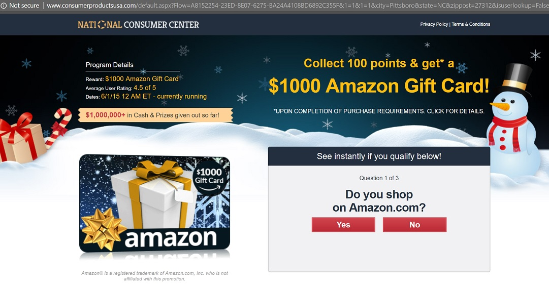 Congratulations Amazon User - Amazon Pop Up and iPhone X or Gift
