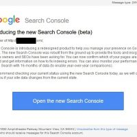 Introducing the new Search Console (beta) Message - What's New?