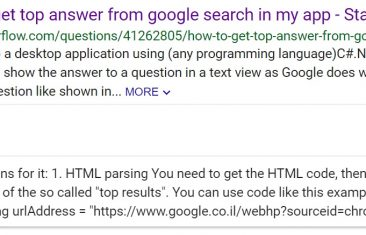 "Top Answer ""Answer Cards"" Seen in Google Search Results"