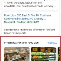"New: ""Other Locations For"" Business in Google Search Results"