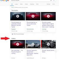 Video Carousel Comes to Google Desktop Search Results
