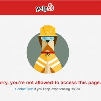 Yelp Bans IP Addresses - You're Not Allowed To Access This Page error