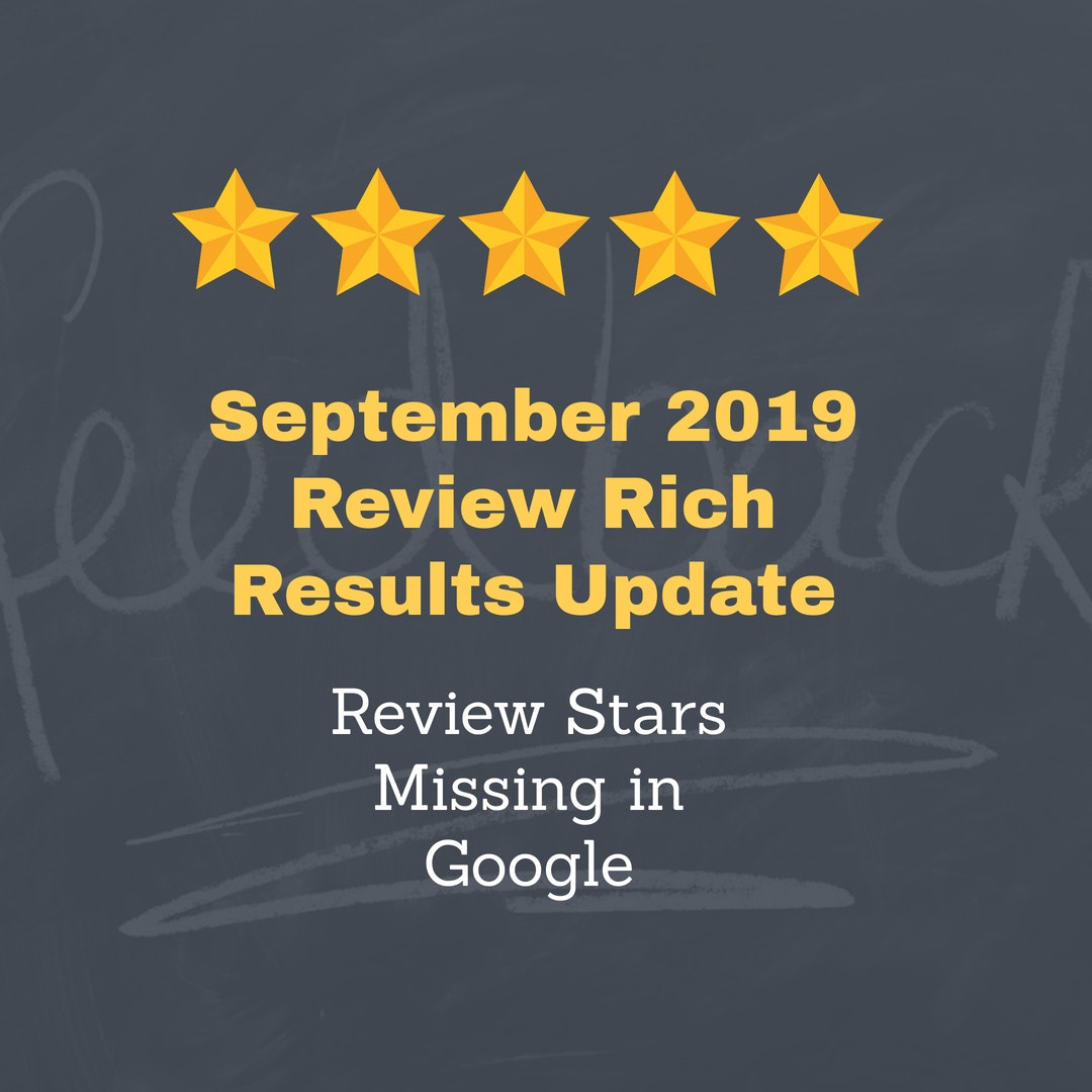logo: September 2019 Review Rich Results Update