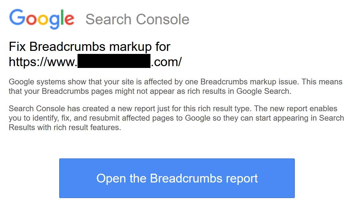 gsc breadcrumb error
