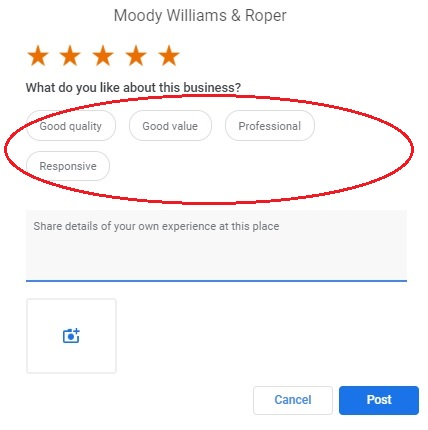 New Google Review Attributes for Lawyers June 2020 - telapost