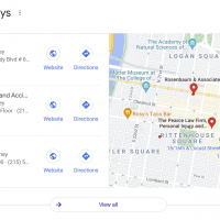 Map Displaying to the Right of the Local Pack in Google Test in July 2021